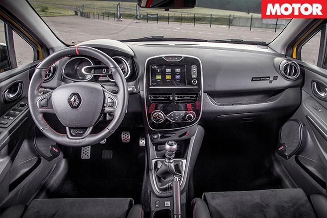 Renault Clio RS16 rear interior