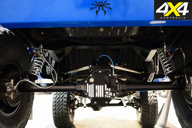 Electric Jeep JK Wrangler rear suspension