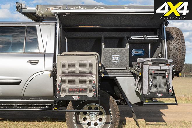 Custom Nissan Patrol storage set up