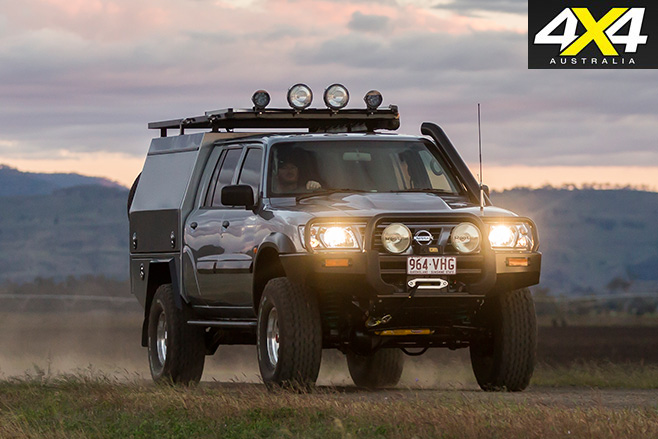 Nissan Patrol custom driving front