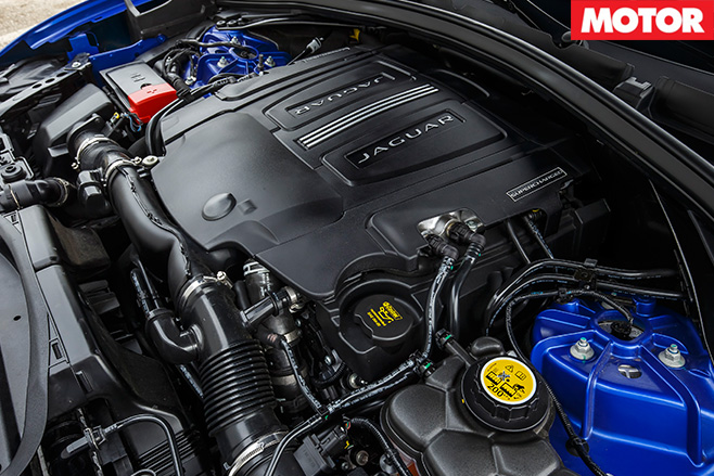 2016 Jaguar F-Pace S 35t engine