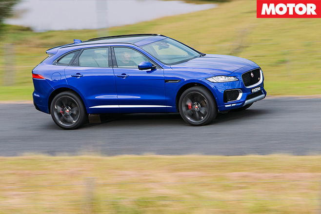 2016 Jaguar F-Pace S 35t side
