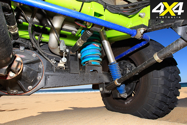 Custom Toyota LandCruiser 79 undercarriage