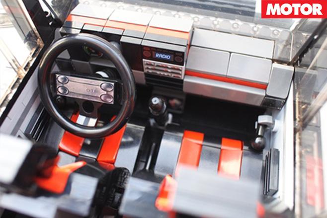 Lego VW Golf GTI interior
