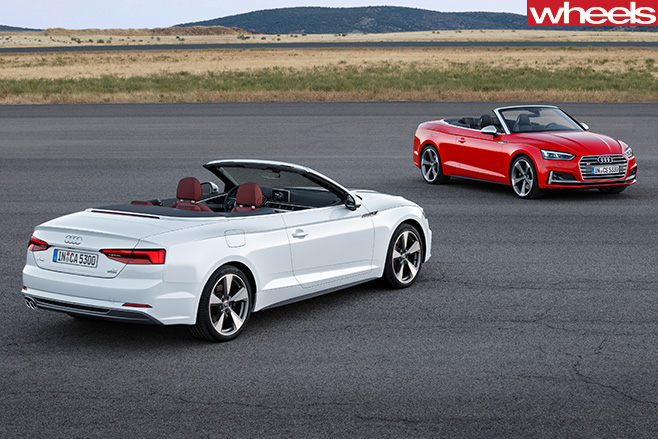 Audi -A5-cabriolet -and -S5-top -side