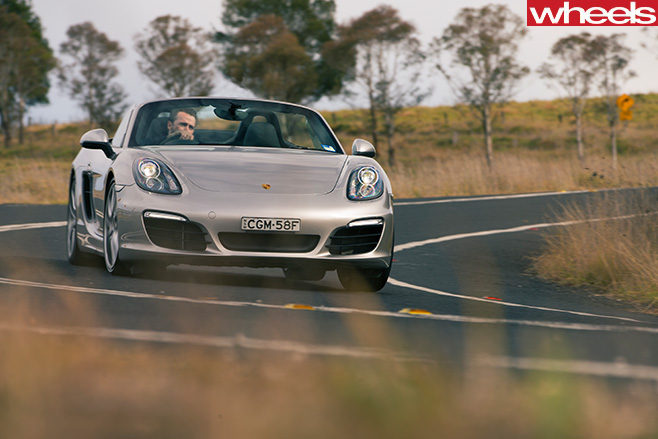 Porsche -Boxster -S-driving -front -side