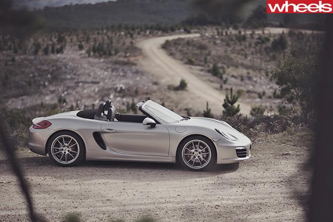 Porsche -Boxster -S-top -side