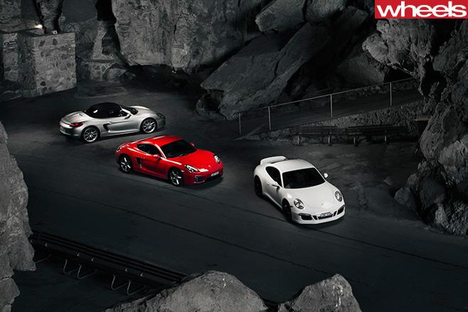 Porsche -Boxster -S-vs -Porsche -Cayman -vs -Porsche -911-Carrera -S-top