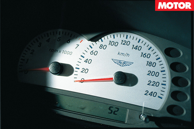 Tickford white faced gauges