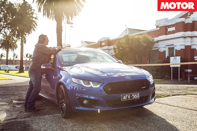 XR8-Sprint -outside -the -Geelong -Falcon plant