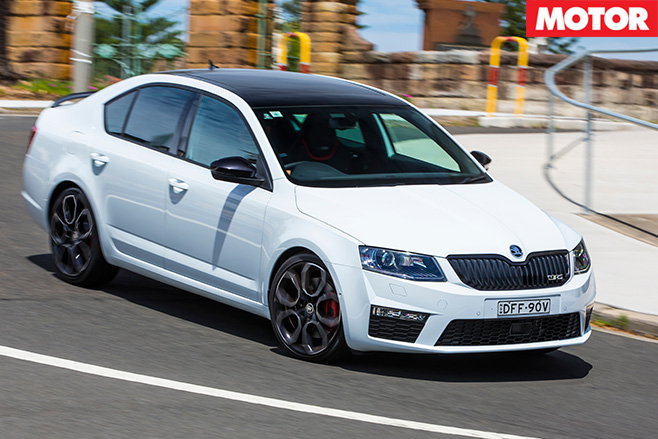 2017 Skoda Octavia RS230 driving