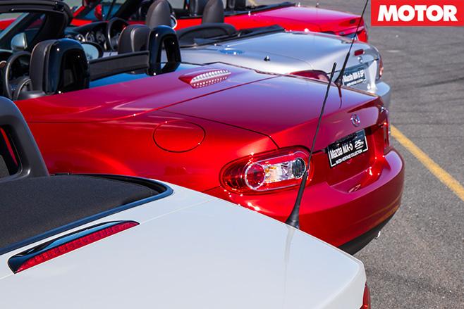 Mazda mx-5 rear view
