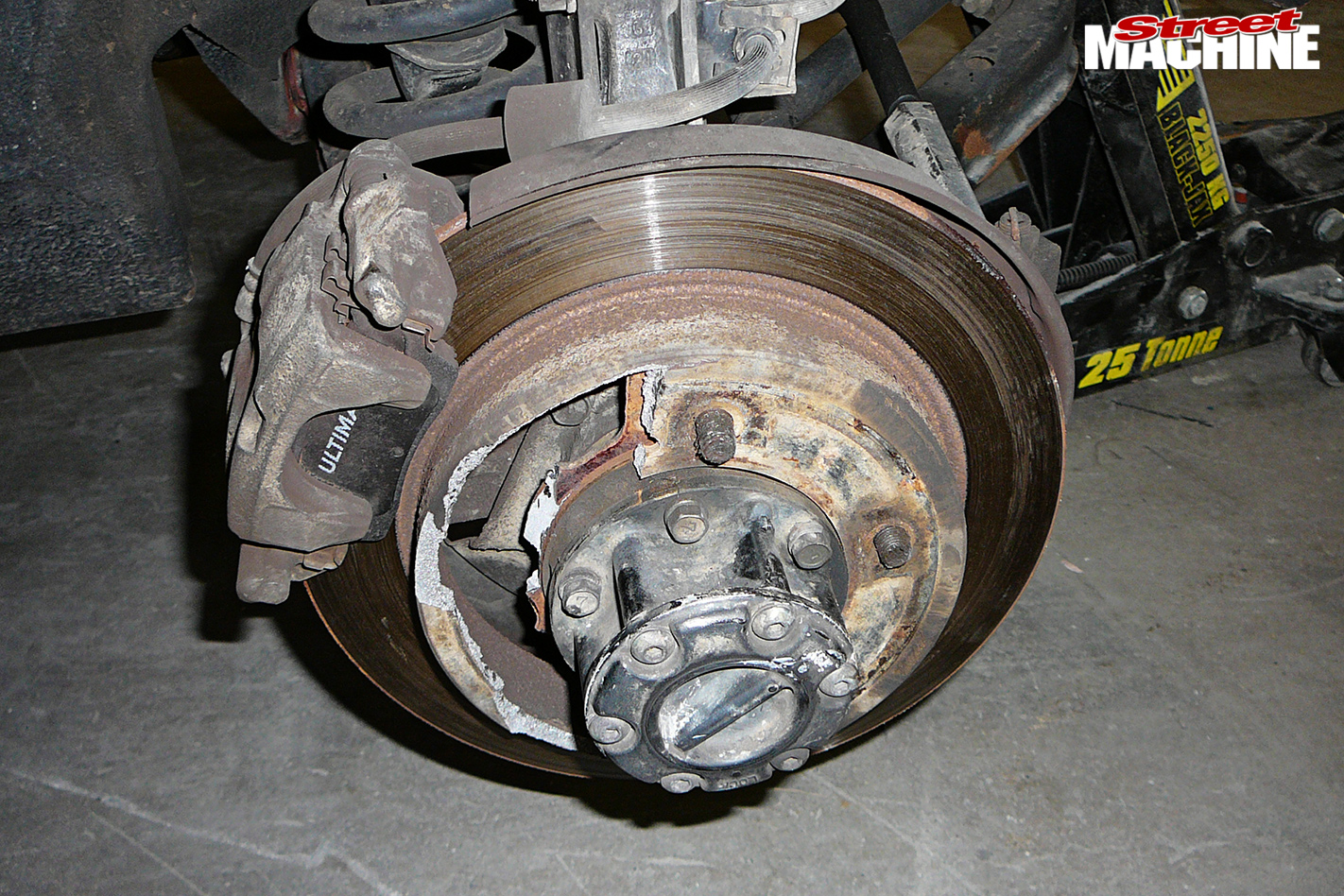 Damaged -disc -rotor