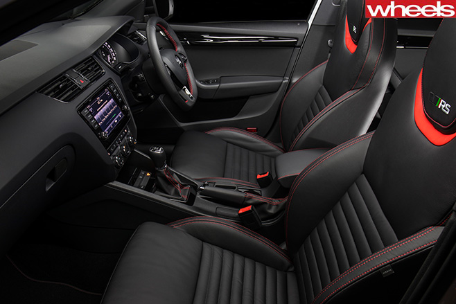 Skoda -Octavia -RS230-driving -interior