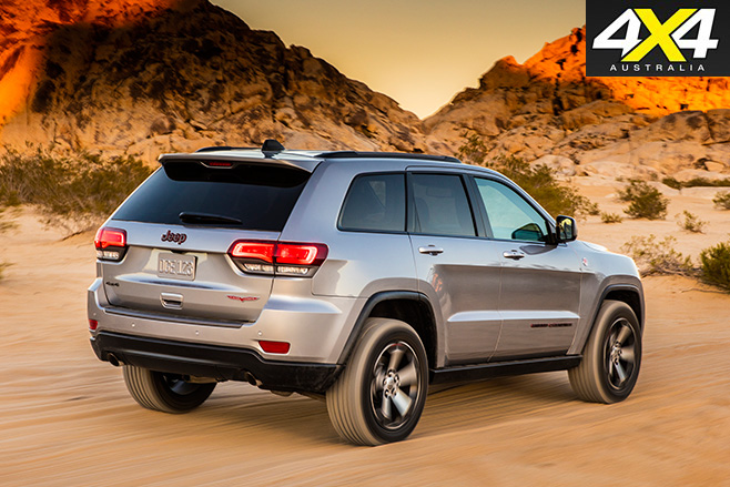 2017 Jeep Grand Cherokee Trailhawk rear driving