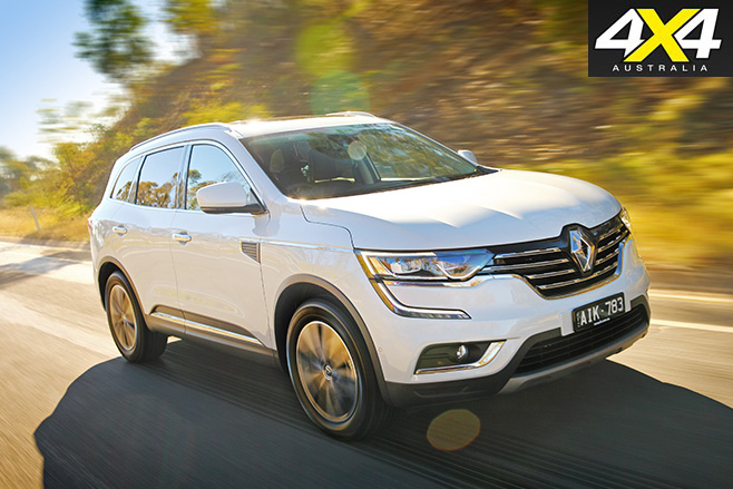 2017 Renault Koleos Intens driving on road