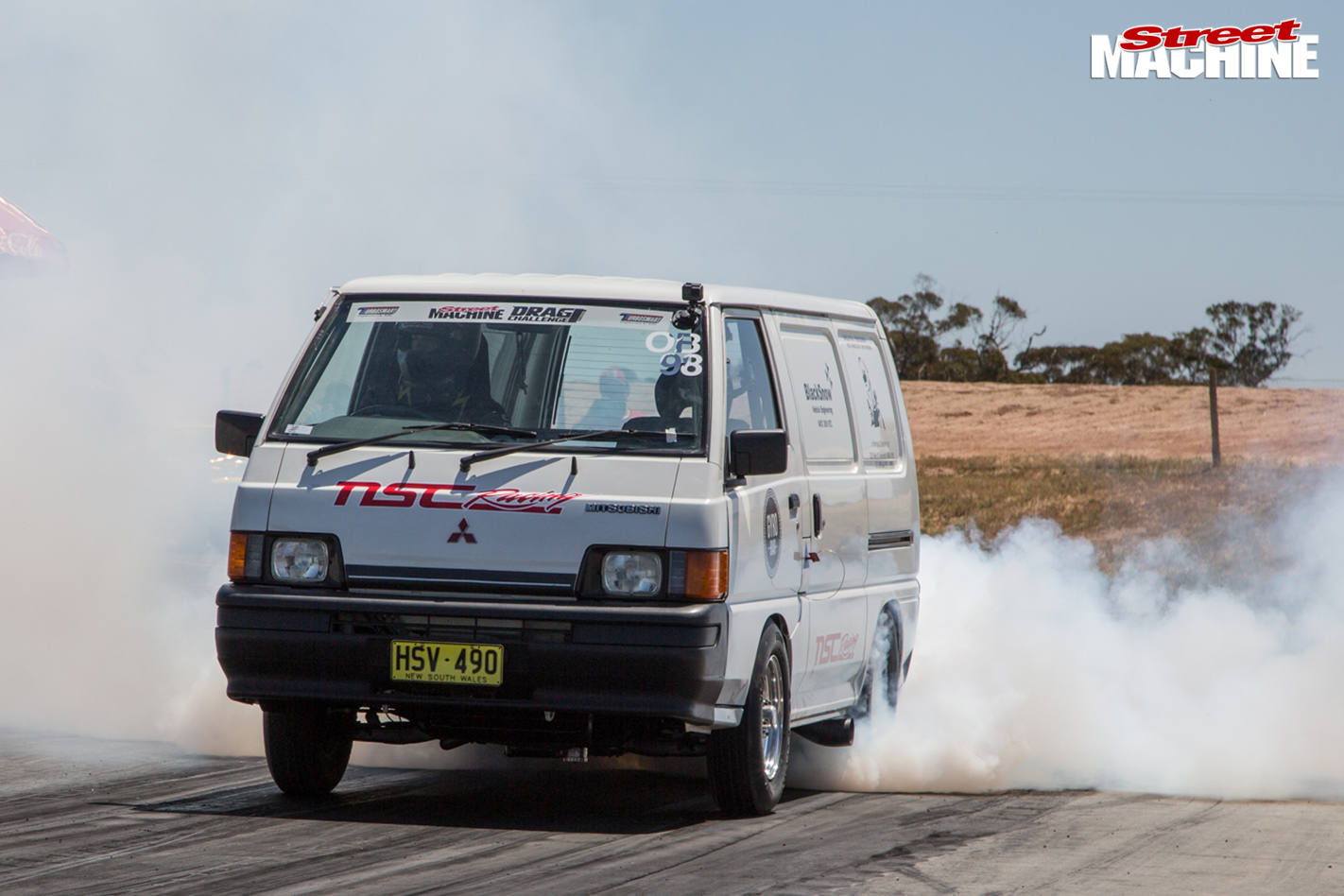 TURBO-LS-FORD-CAPRI-AND-TWIN-TURBO-LS-MITSUBISHI-EXPRESS-VAN-AT-DRAG-CHALLENGE-van -2