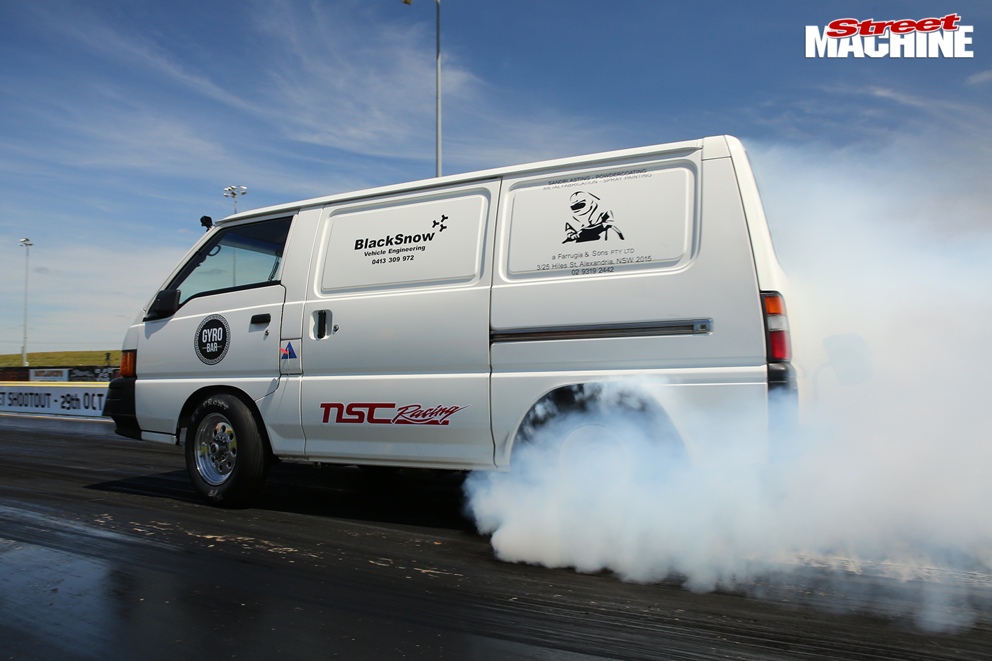 TURBO-LS-FORD-CAPRI-AND-TWIN-TURBO-LS-MITSUBISHI-EXPRESS-VAN-AT-DRAG-CHALLENGE-van -tyre