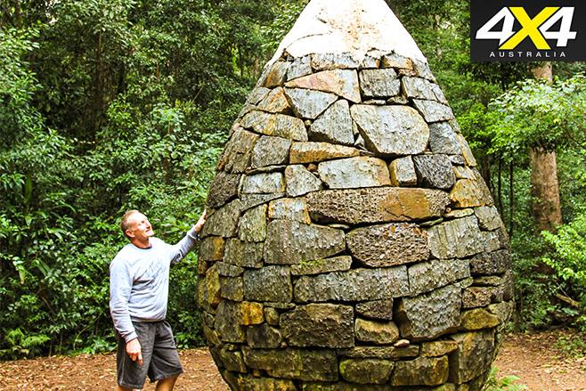 Strange rock cairn