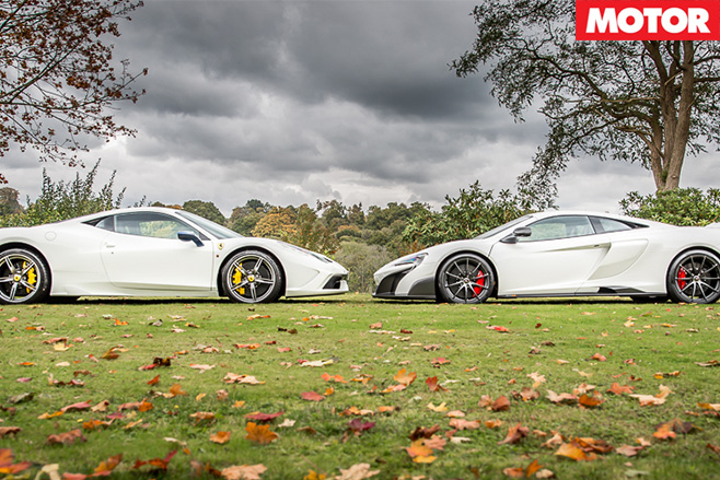 Ferrari 458 Speciale and McLaren 675LT head to head