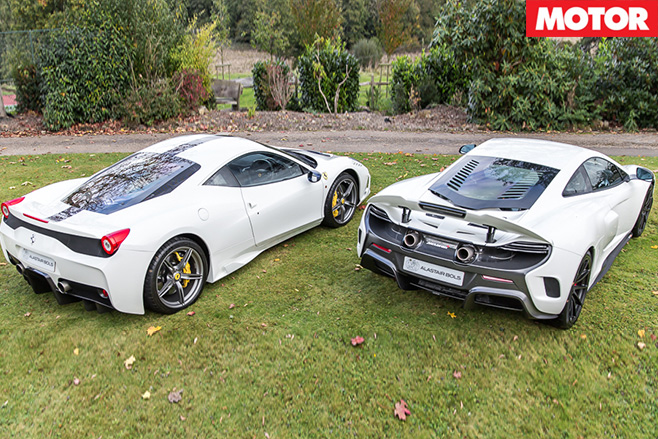 Ferrari 458 Speciale and McLaren 675LT pair