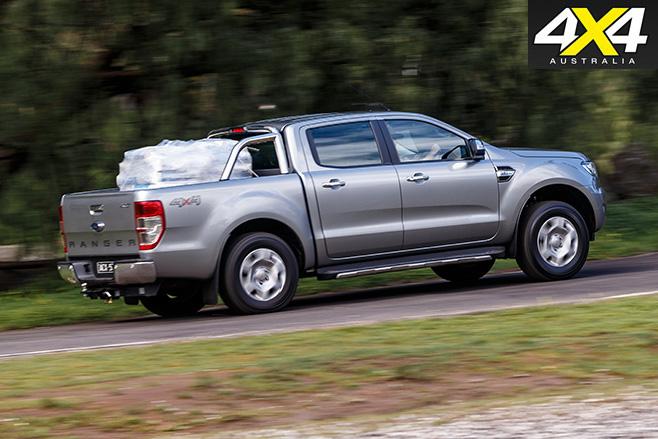 Uphill driving ford ranger
