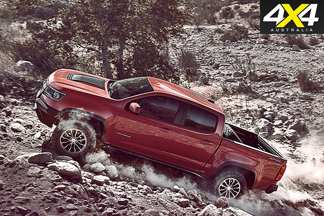 Chevrolet Colorado ZR2 uphill driving