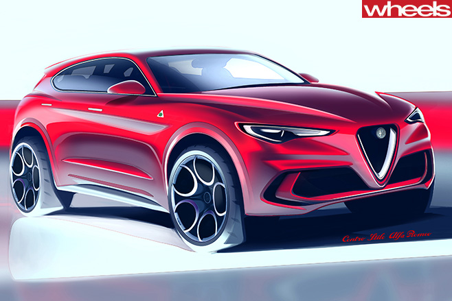 Alfa -Romeo -Stelvio -front -side -drawing