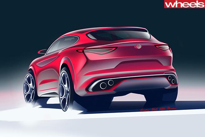 Alfa -Romeo -Stelvio -rear -side -drawing