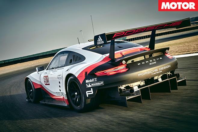 2017 Porsche 911 RSR rear
