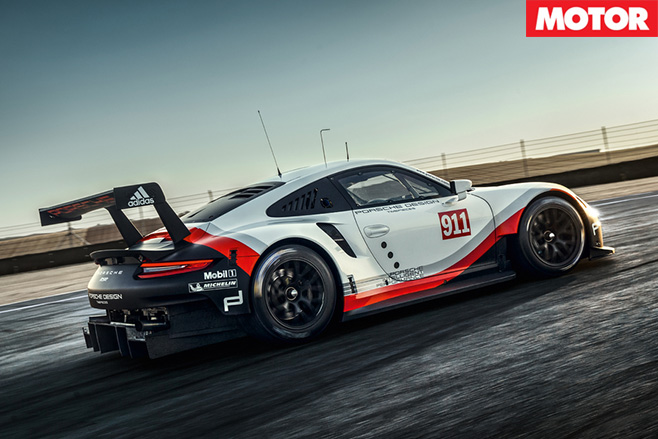 2017 Porsche 911 RSR side