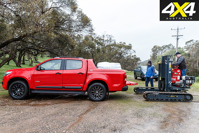 Holden colorado loaded and tested