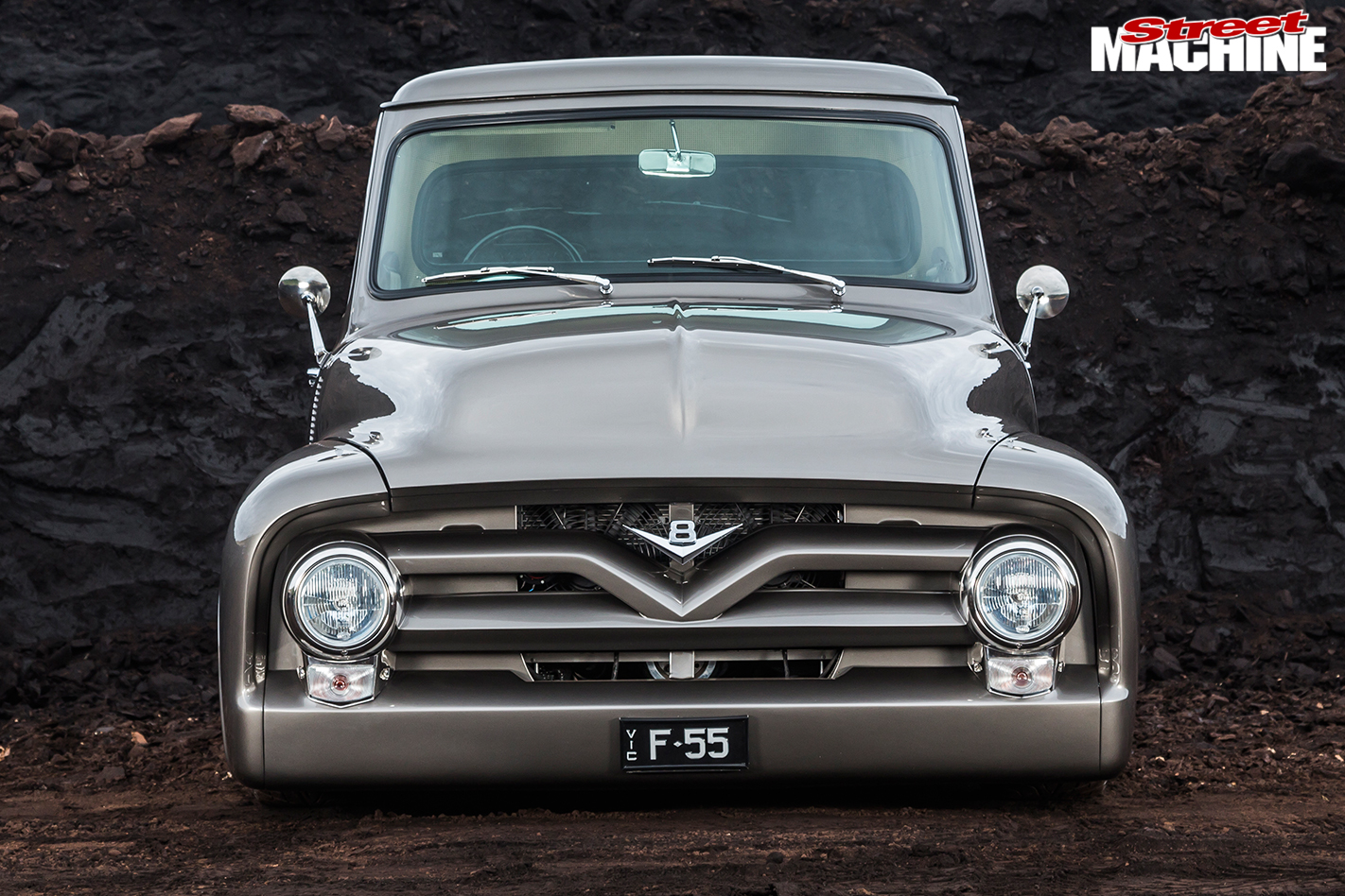 800hp Big Block 1955 Ford F100 Pickup Specifications Front