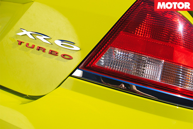 XR6 turbo badge