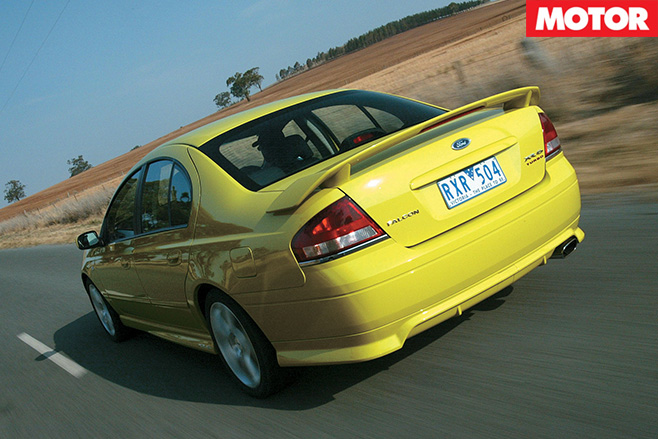 BA XR6 Turbo Falcon rear driving