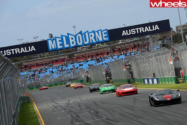 Ferrari -racing -at -track