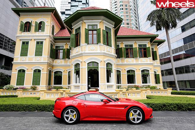 Ferrari -parked -outside -house