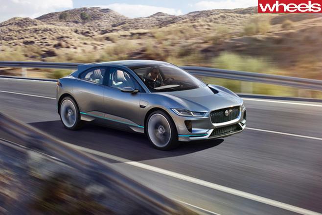 Jaguar i-Pace driving front