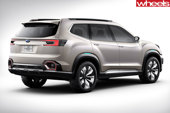 2018 subaru tribeca replacement. perfect subaru subaru viziv 7 concept rear side with 2018 subaru tribeca replacement