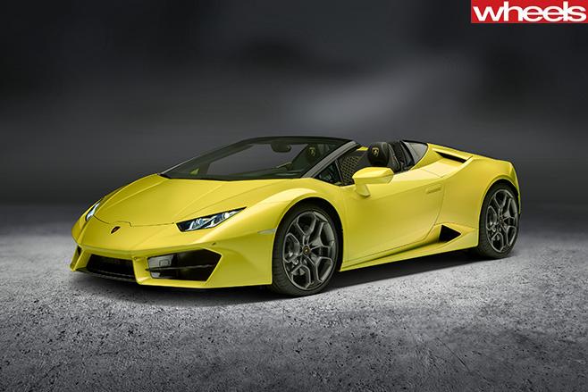 Lamborghini -Huracan -Spyder -front -side
