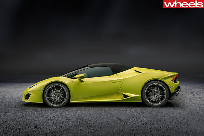 Lamborghini -Huracan -Spyder -side -roof -up