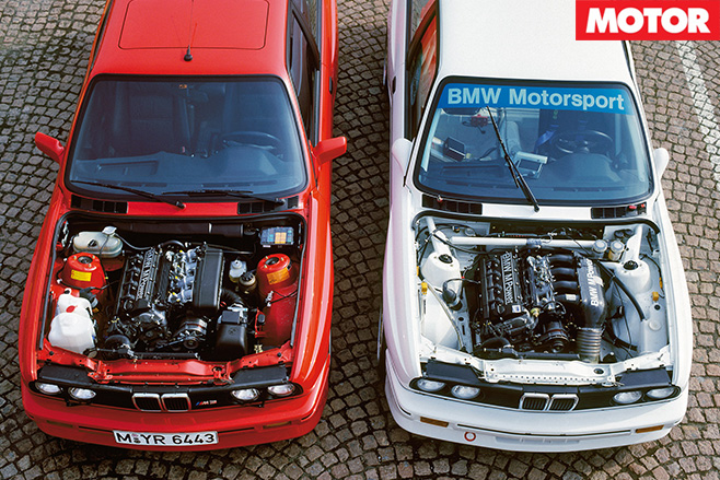 BMW E30 M3 with engines