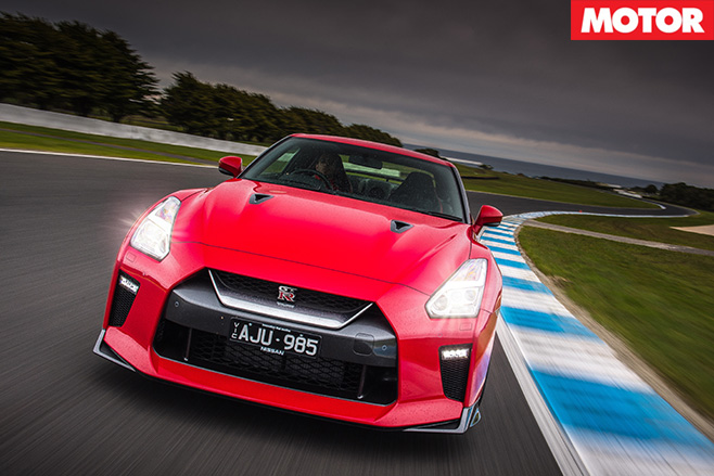 2017 Nissan GT-R Track Edition front driving
