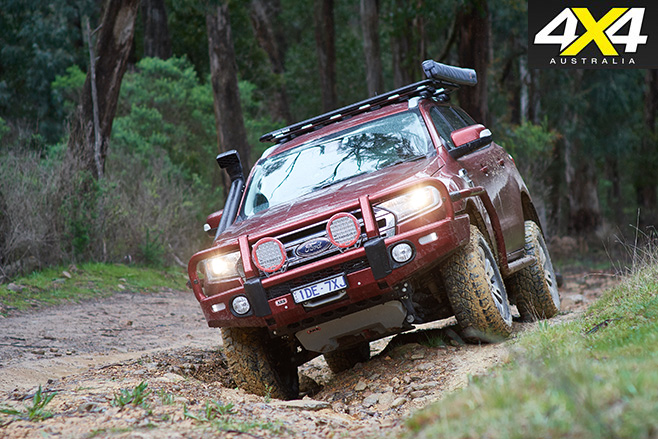 ARB Everest driving front