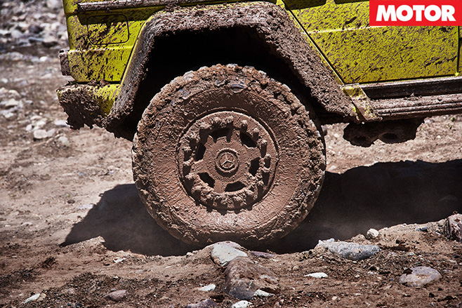 2016 Mercedes G500 4x4 Squared tyres