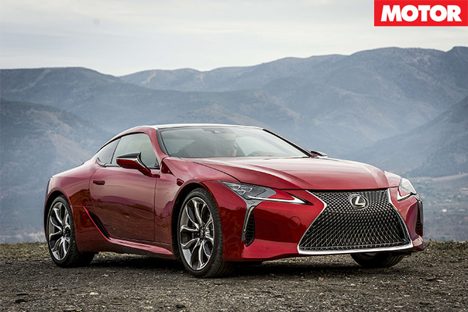 Lexus LC500 locked in for Oz mid 2017 front