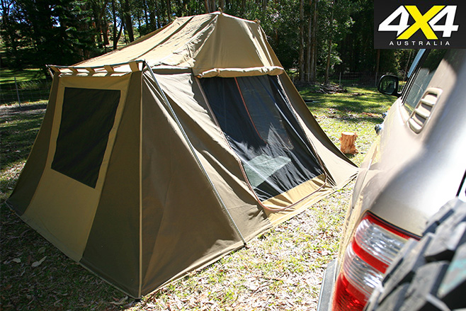 Rear and side windows tent