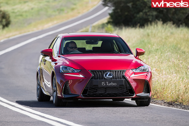 2017-Lexus -IS200t -driving -front