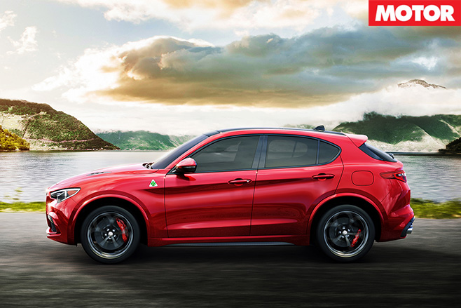 Alfa Romeo Stelvio side driving
