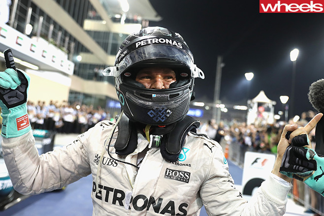 Nico -Rosberg -at -Abu -Dhabi -helmet -on -celebrating